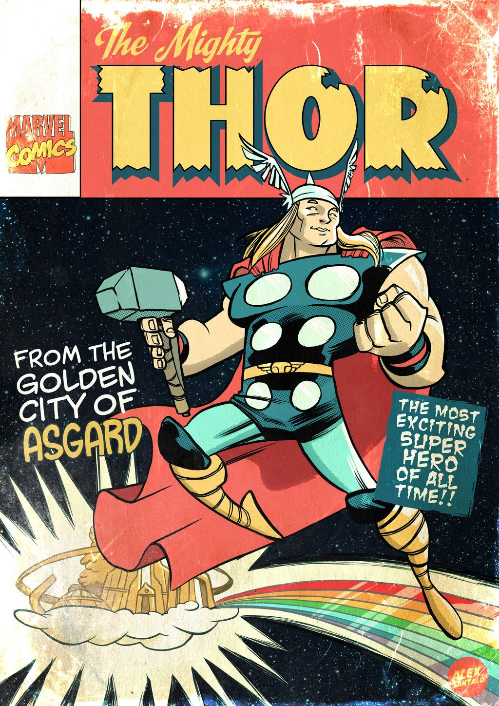 Classic Comic Book Cover - Alex Santalo