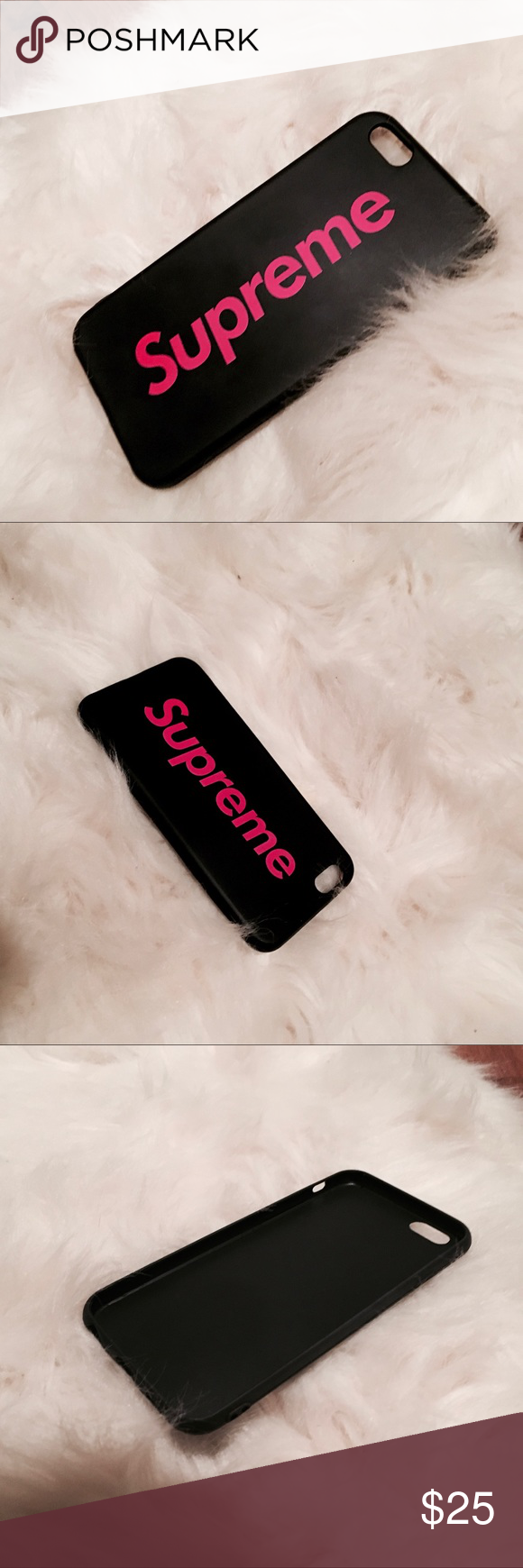 promo code 4ab52 aaa6b 👽 Supreme Pink & Black Jelly IPhone 6 6s case 👽 Supreme Pink ...