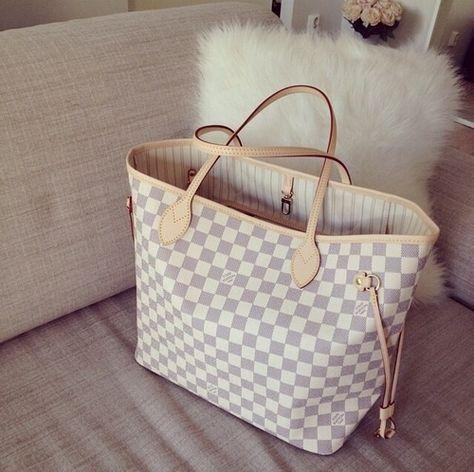 Women's Handbags : White Louis Vuitton Bag #louisvuittonhandbags
