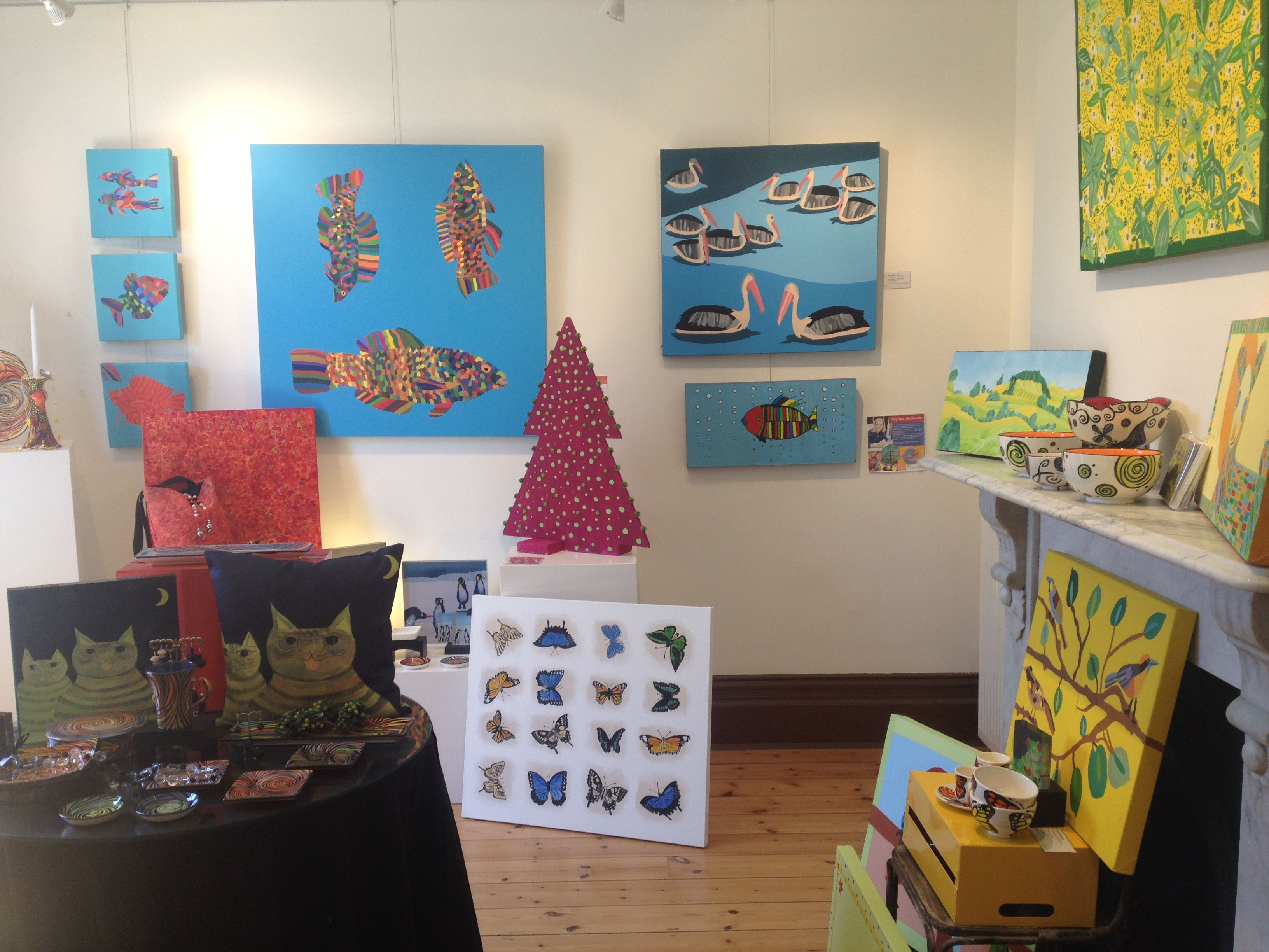 Getting ready for Christmas at QArt Gallery!