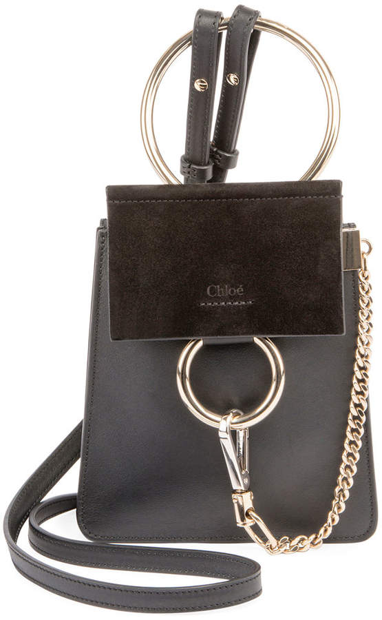 833e49a887 Chloé Faye Small Leather Bracelet Bag in 2019 | Products | Chloe ...
