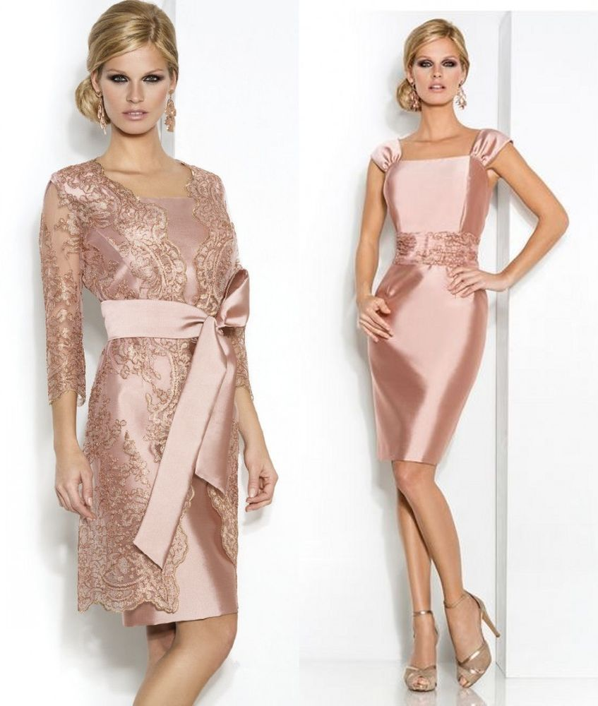 Peach dress for wedding guest  KneeLength Mother Of The Bride Outfits Wedding Guests Dresses Free