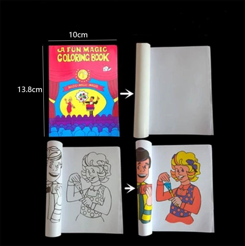 Coloring Book Magic Trick Unique Fun Magic Coloring Book Pocket Size Easy Shipping In 2020 Coloring Books Toddler Coloring Book Nick Jr Coloring Pages