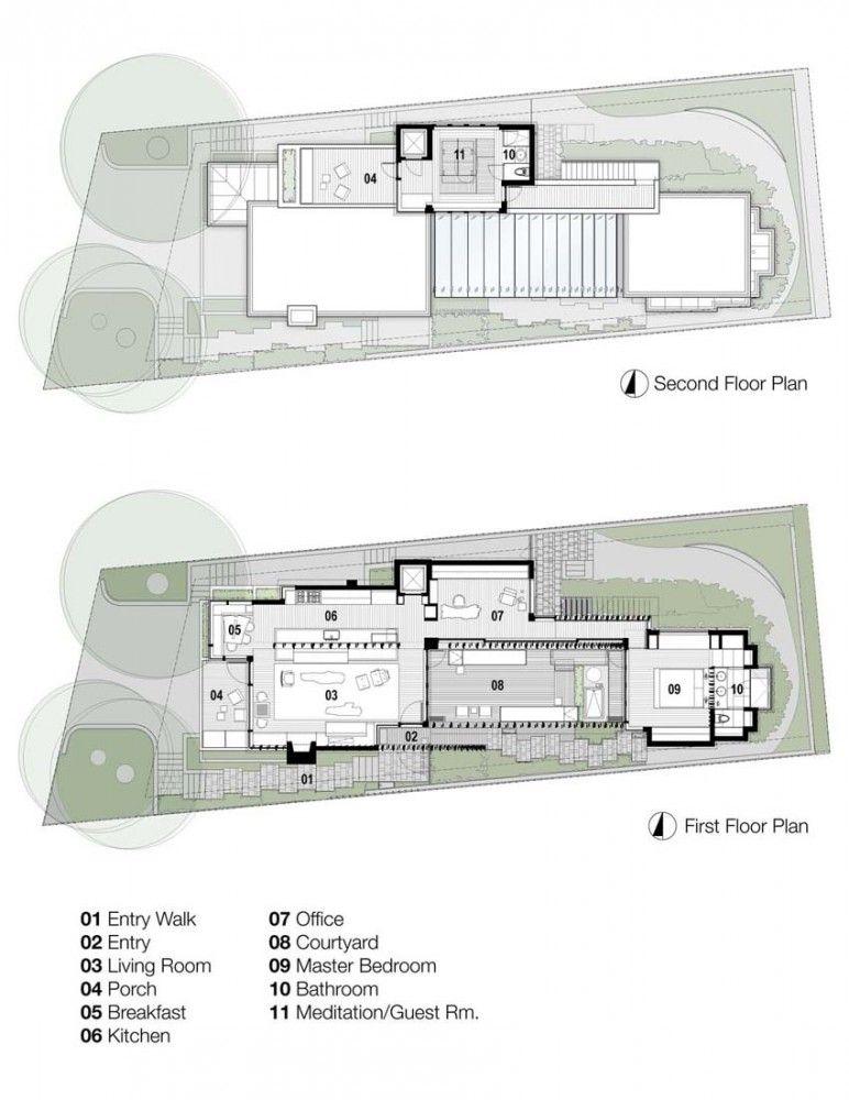 Carmel Residence / Dirk Denison Architects Plans maison, Plans et