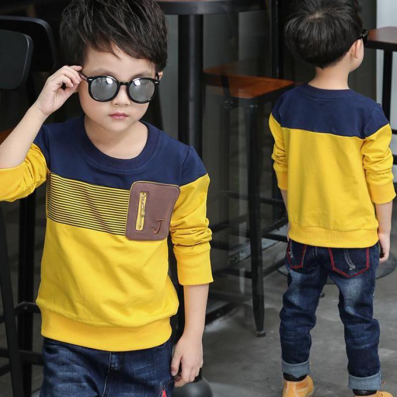 Encontrar Más Camisetas Información acerca de 2018 Primavera de manga larga niños  ropa niños camiseta a 352136db0199c