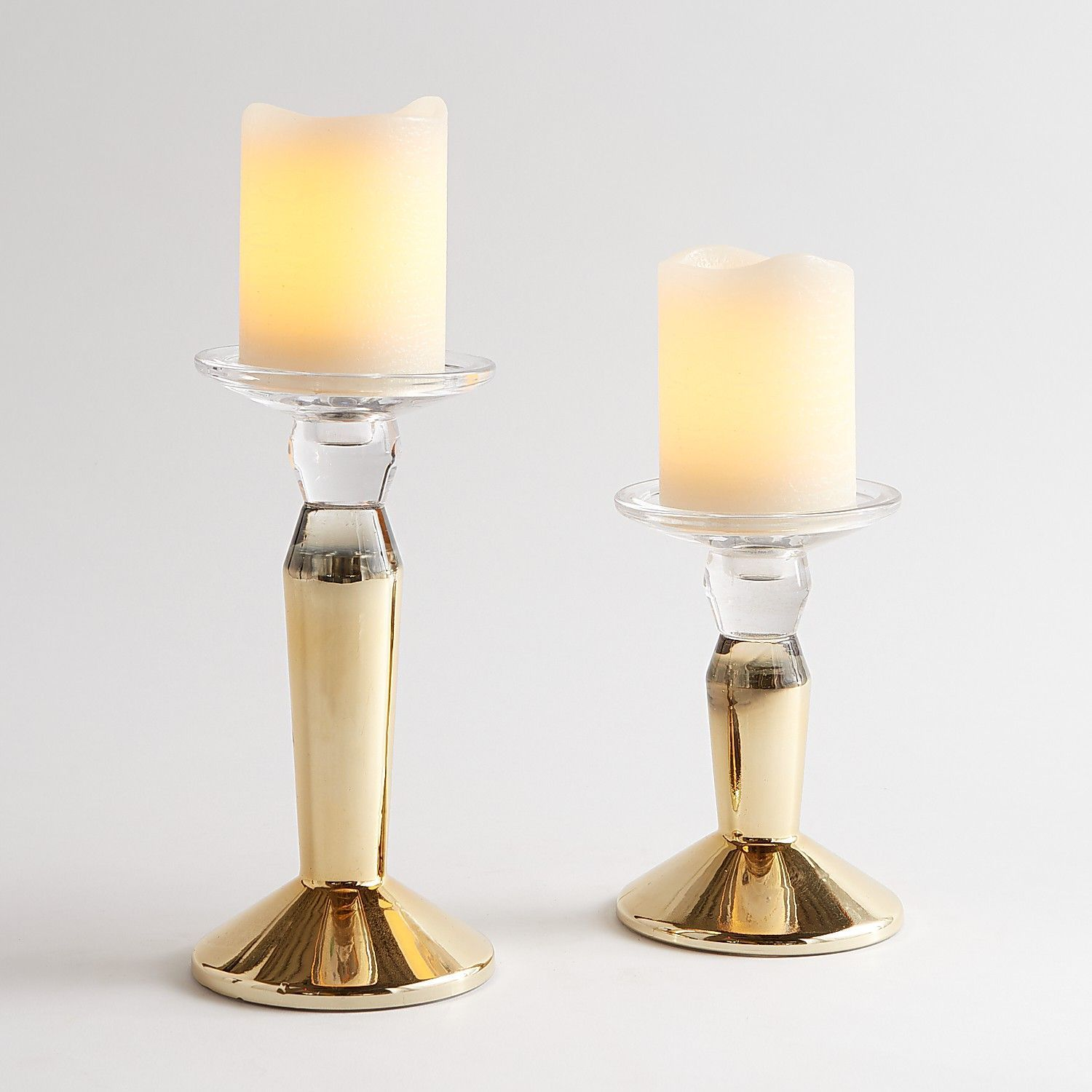 Gold Pillar Candle Holder - Pier 1 Imports