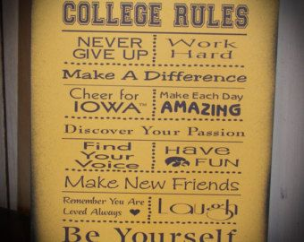 Great Roommate Rules Great For Dorm Room At College By HeartlandSigns Part 7