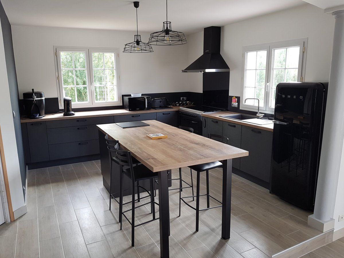Custom Fitted Kitchen Brushed Metal Label En 2020 Interieur