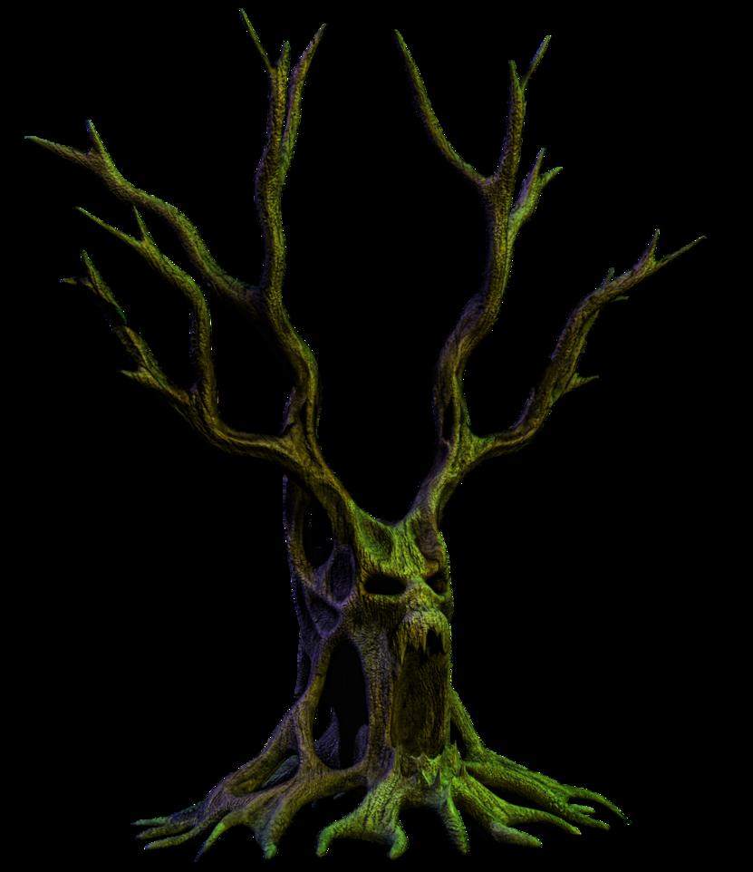 spooky trees tree clipart haunted houses fractals deviantart drawings artist [ 831 x 962 Pixel ]