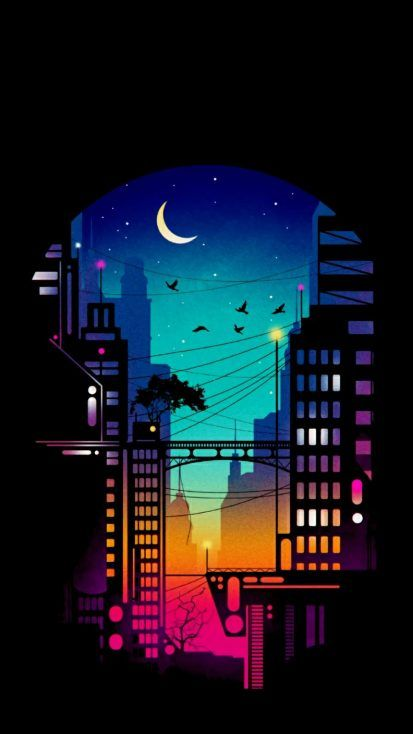 City at Night iPhone Wallpaper - iPhone Wallpapers