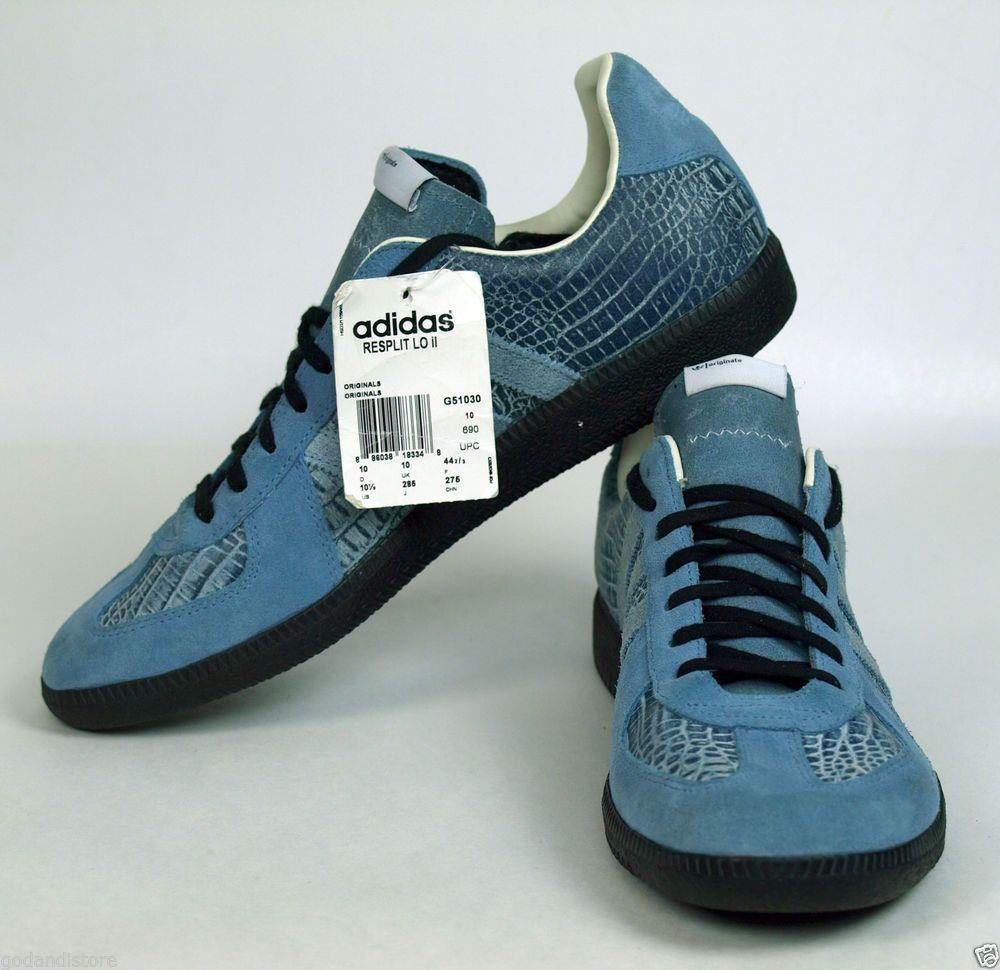 NWT Adidas Originals Resplit Low II Blue Black Croc BW-SPORT 285 G51030 Sz  10.5