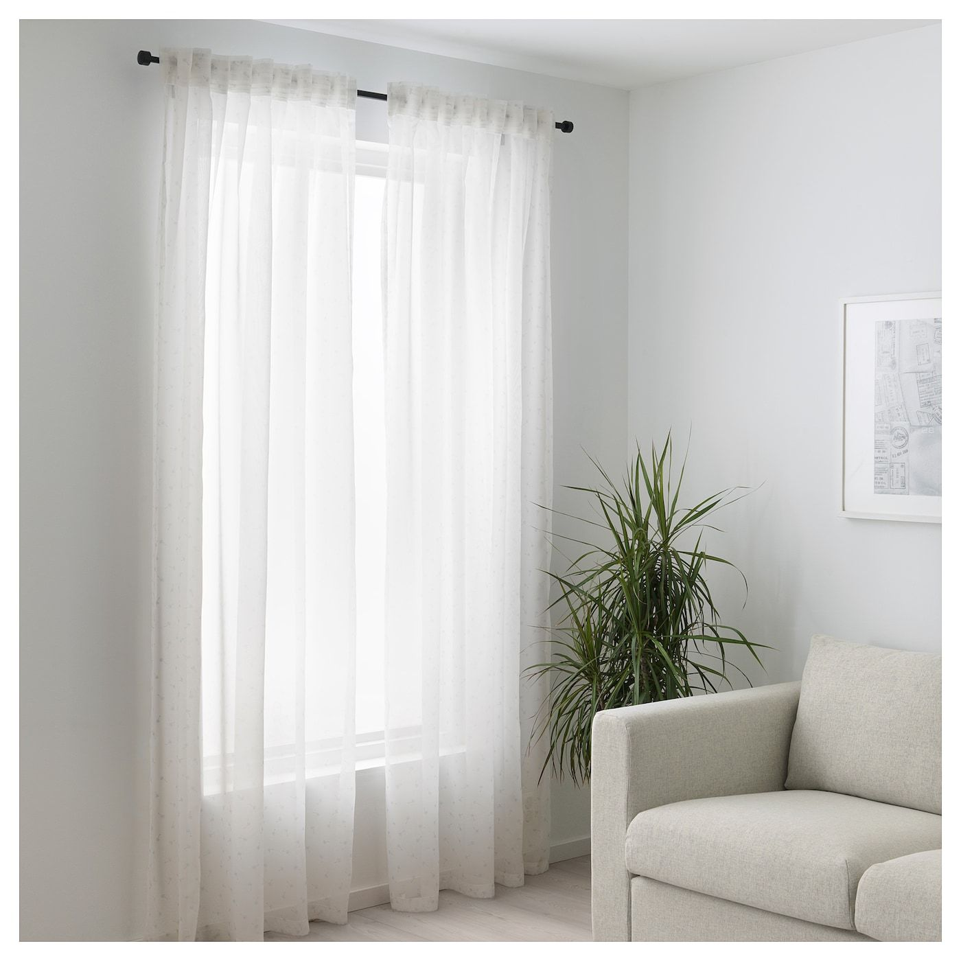 Ikea Us Furniture And Home Furnishings Curtains Living Room Curtains With Blinds White Curtains - Ikea Vorhang Ninni Rund