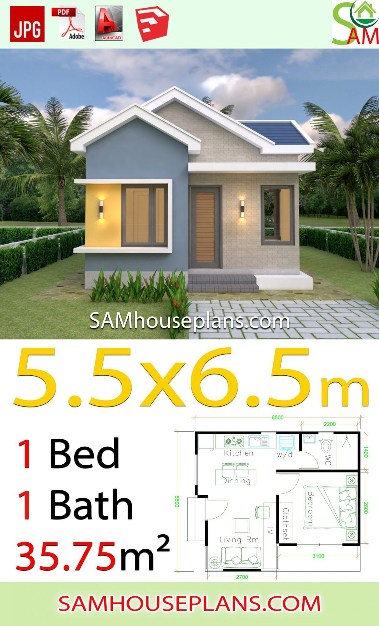 Gableroof Homedesignplans Narrowhouseplans Tvinkitchen Gardenliving Modernhousedesign Gra In 2020 Small House Architecture Simple House Design Small House Design