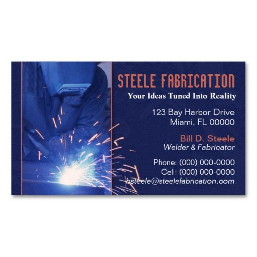 Welder Business Card Zazzle In