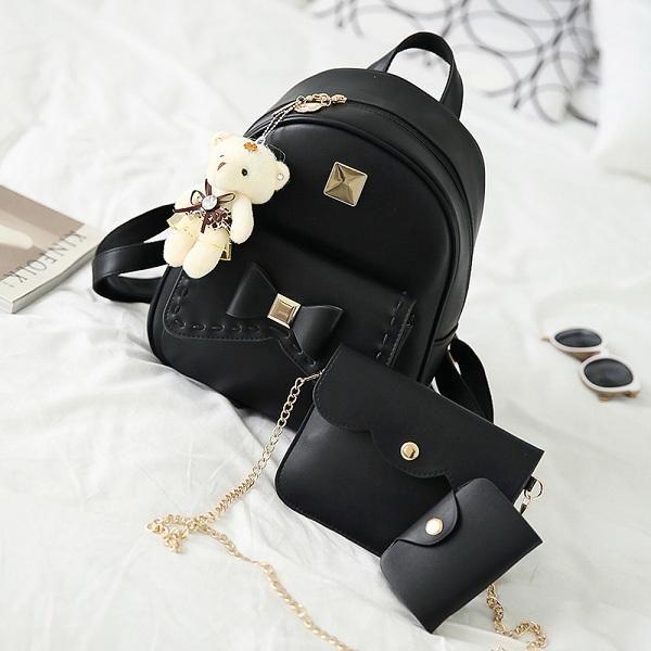 42333315ebb6 Striped Shoulder Bags · Leather School Bag · Item Type  Backpacks Style   Fashion Exterior  Silt Pocket Gender  Women Lining Material