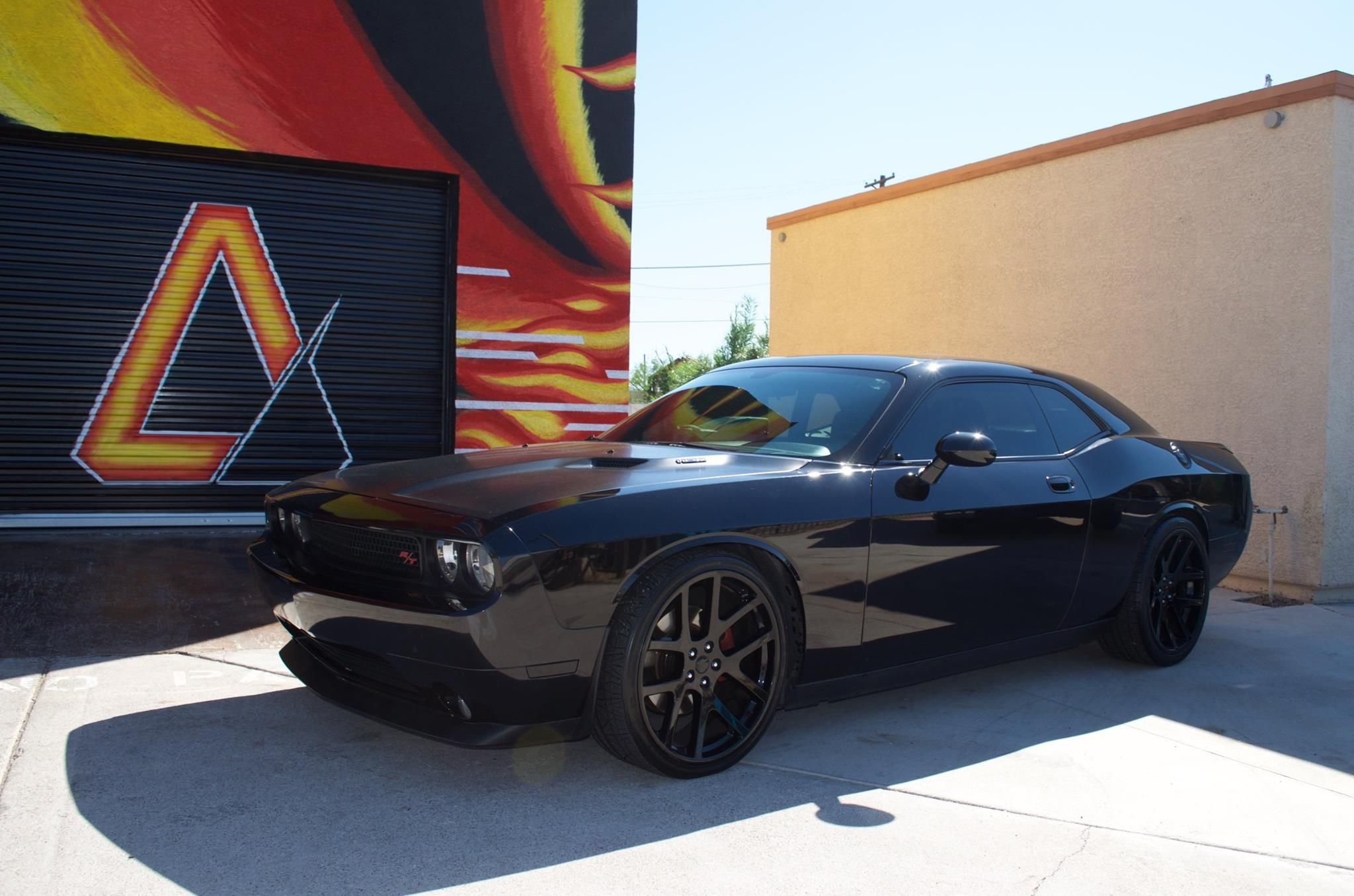 Dodge Challenger R T Full Wrap Using 3m 1080 Satin Black Apex