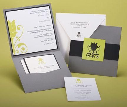 Pocket invitation sample from Paper Presentation – Pocket Invitation Card