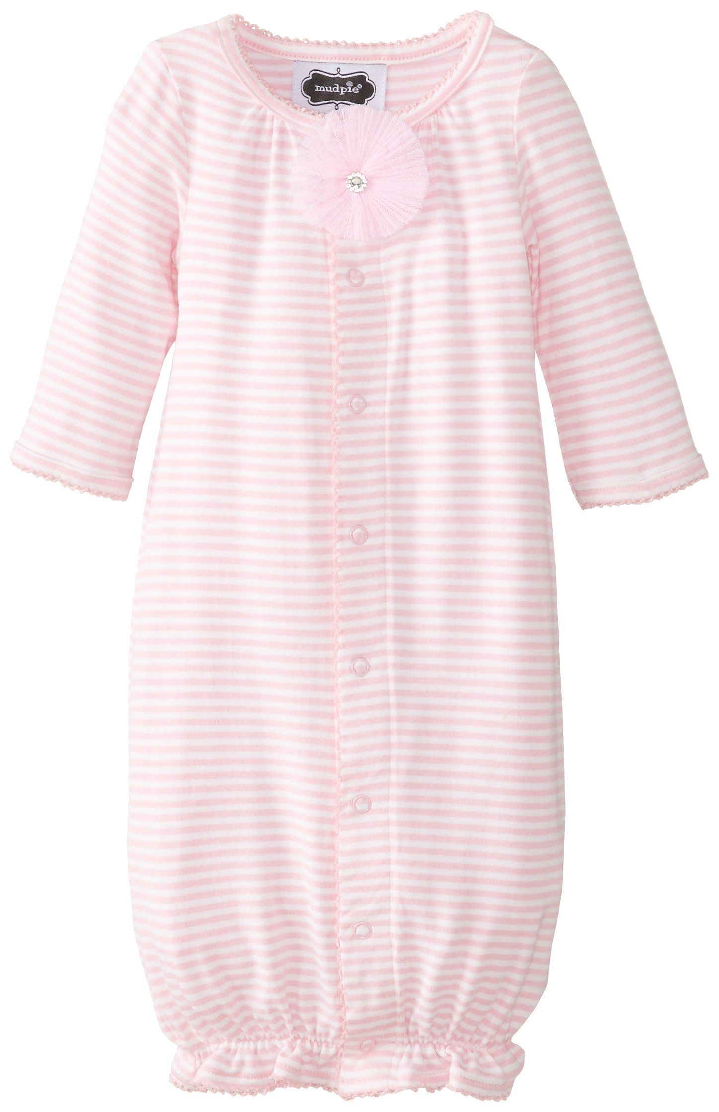Mud Pie Baby-Girls Newborn Convertible Sleep Gown, Pink, 6-9 Months ...