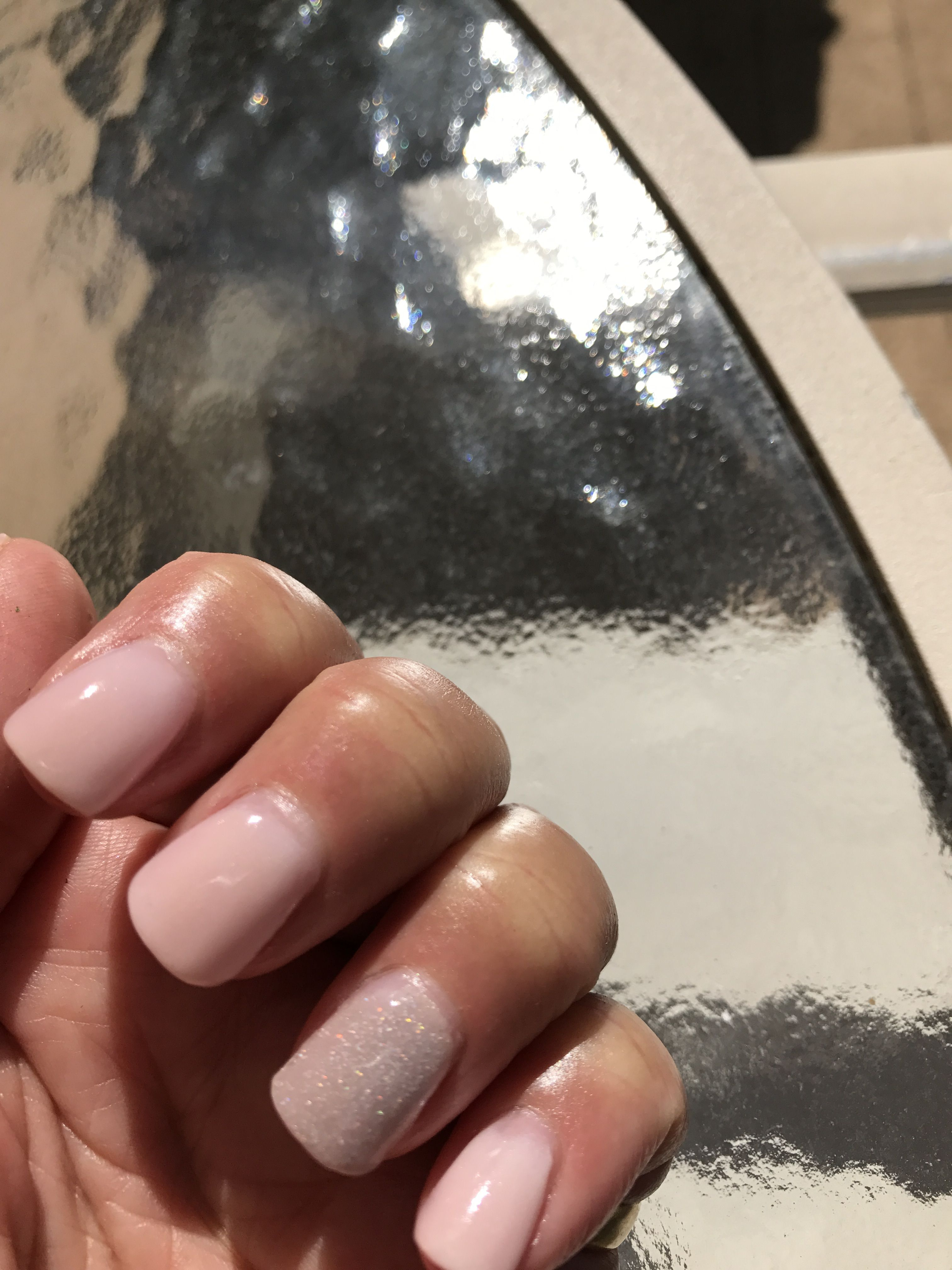 Revel nails dipping powder 2 thin dips of Marion, followed by ...