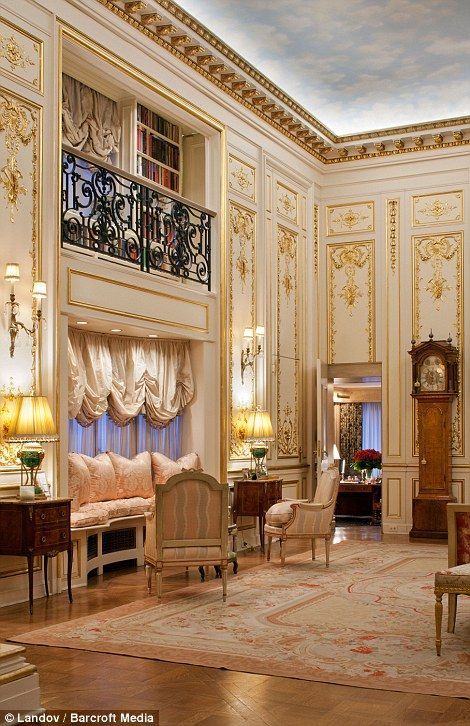Marble Statues Chandeliers Walls Lined With Gold And Stacks Of