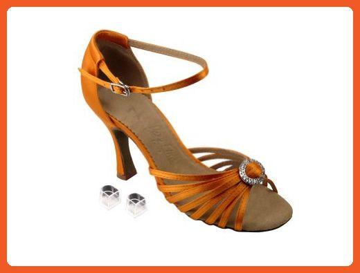 522bdbc9de1 Very Fine Ladies Women Ballroom Dance Shoes EKSA1671B Orange Tan Satin 3
