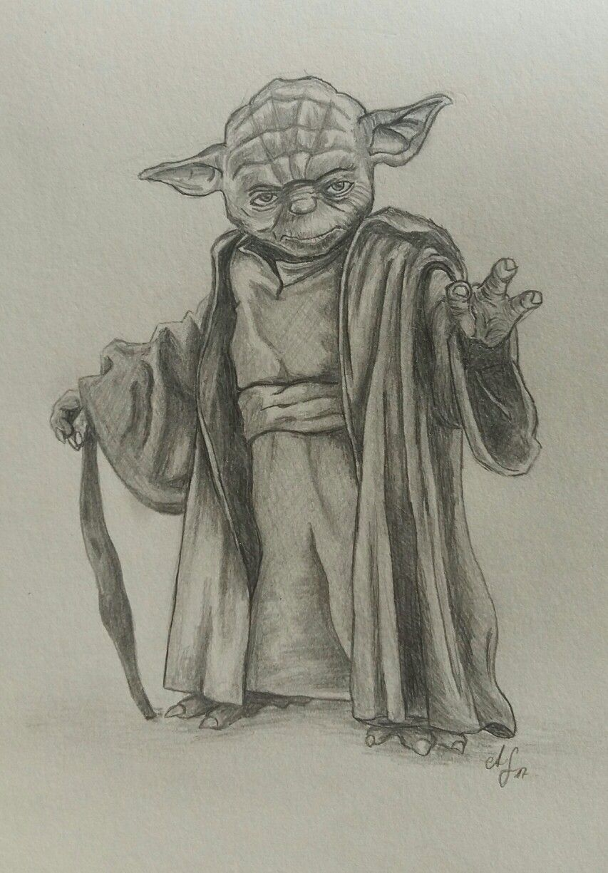 Yoda gezeichnet nach Vorlage   Meine Zeichnungen   Pinterest ...