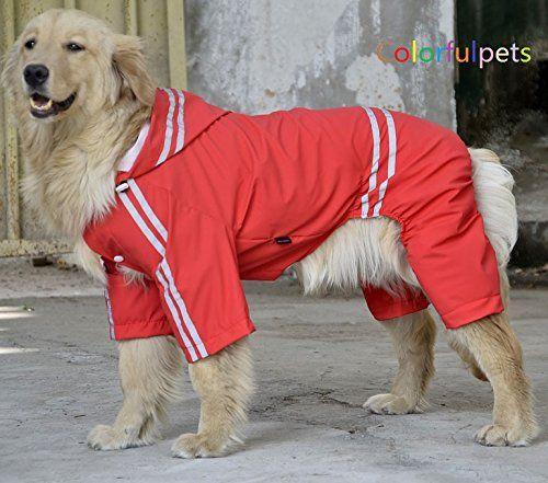 Large Dog Rain Coat Labrador Raincoat Pet Poncho Rain Slicker Quickly View This Special Dog Product Cli Large Dog Clothes Dog Raincoat Waterproof Dog Coats