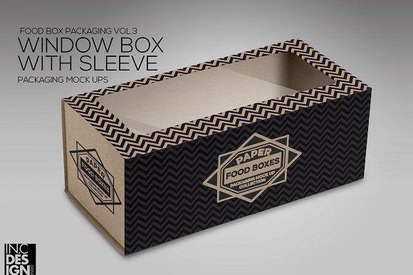 Download Box Window Sleeve Packaging Mockup Packaging Graphic Design Packaging Packaging Mockup