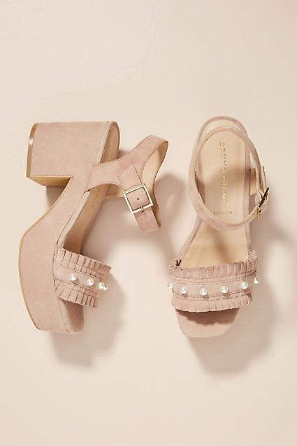 comfortable sale online great deals cheap price Bruno Premi Pearled Platform Sandals outlet cost ssCuflNw0