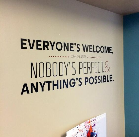 Foyer Office Quotes : Good church wall graphic or window cling