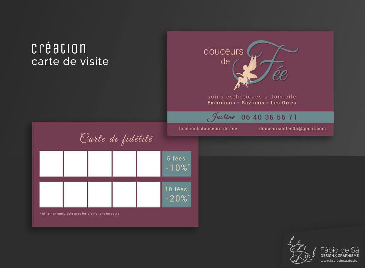 Creation De Carte Visite Pour Douceurs Fee Demander Un Devis Sur Fabiodesadesign Fabio Sa