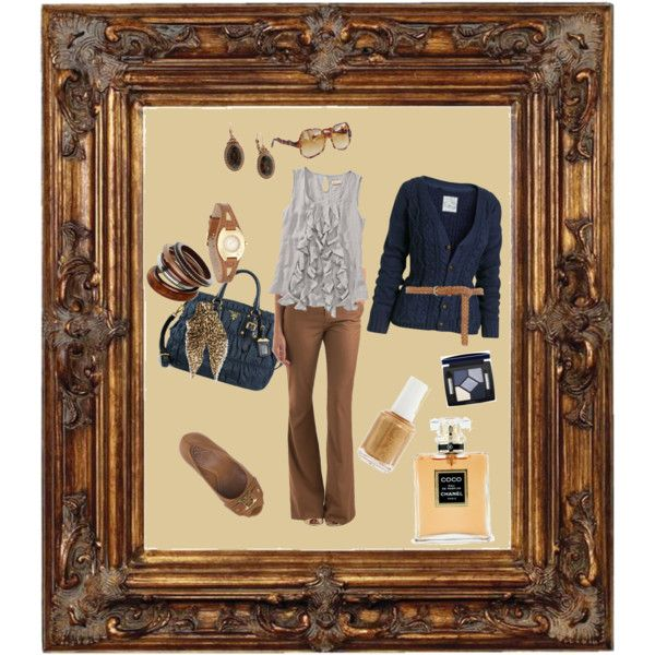 Navy & Tan, created by mrsgena on Polyvore