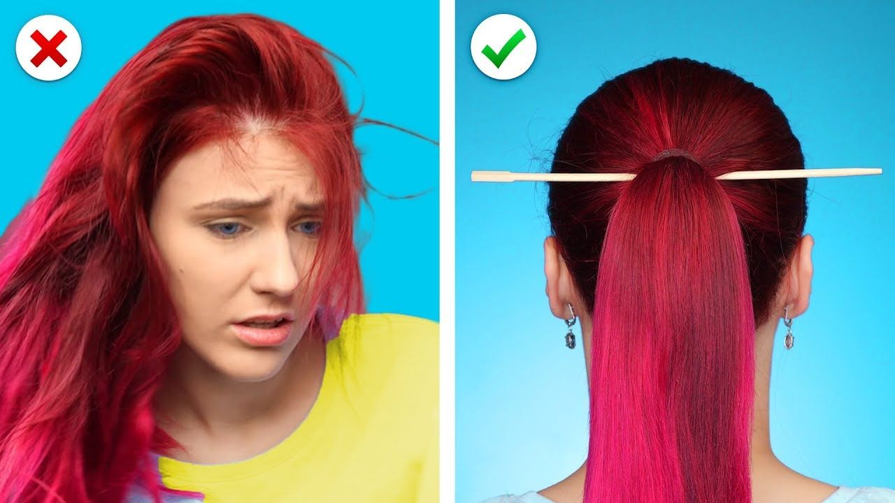 Relax! And Fix it with 10 Cool and Simple Hairstyles and Hair Hacks - YouTube in 2019 | Hair ...