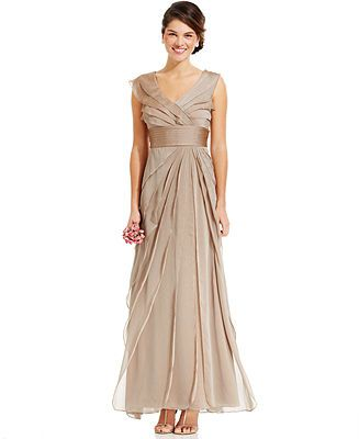 Adrianna Papell Tiered Evening Dress Mother Of The Bride Dresses