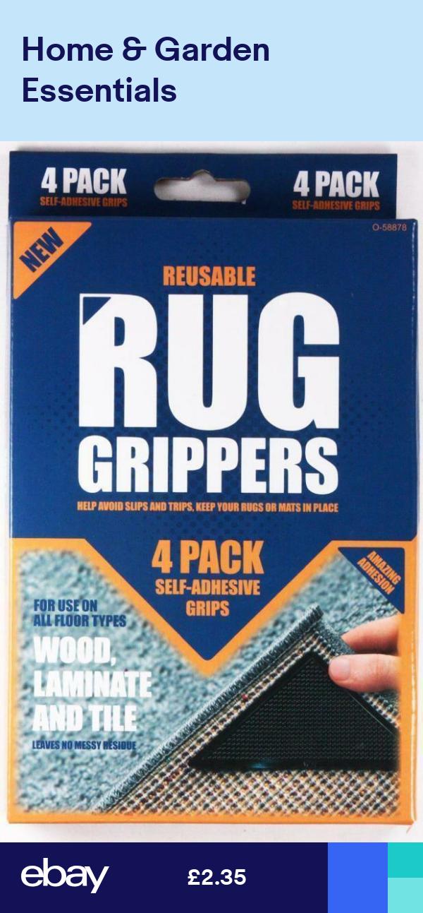 1x Rug Grippers Mat Non Slip Reusable Carpet Washable Diy Self Adhesive 4 Pack Rugs Adhesive Diy Rug