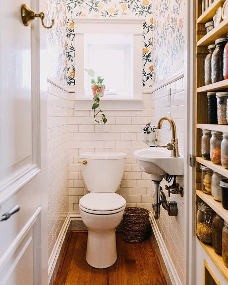 Apartment Therapy On Instagram Countdown To 2020 We Re Celebrating The End To An Amazing Year By Shari Tiny Powder Rooms Small Half Bathrooms Small Bathroom