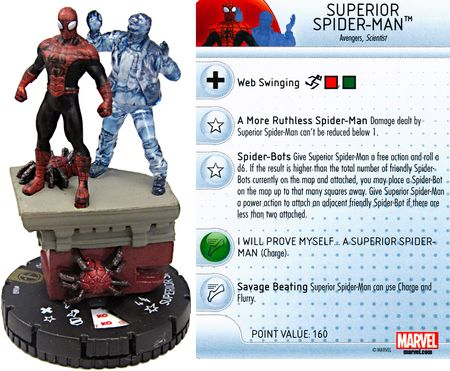 Marvel Heroclix Web of Spider-Man Spider-Man Uncommon 022