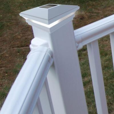 Veranda 4 In X 4 In Solar Post Top 73013136 The Home Depot Solar Post Caps Deck Post Lights Solar Deck Lights