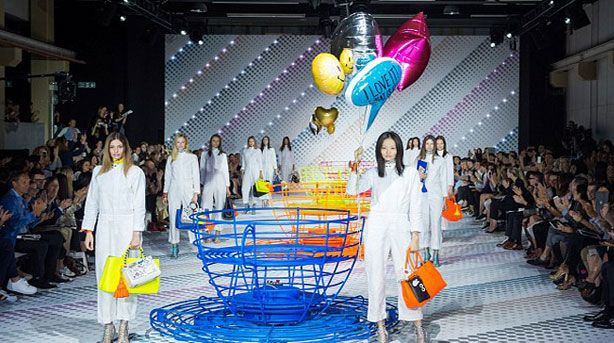 Anya Hindmarch Transforms Her SS15 Catwalk Into a Fairground With Spinning Teacups and Skeletons