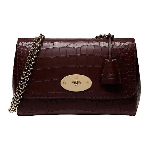 Buy Mulberry Lily Deep Embossed Croc Print Medium Shoulder Bag ... 2fad586ba61bb