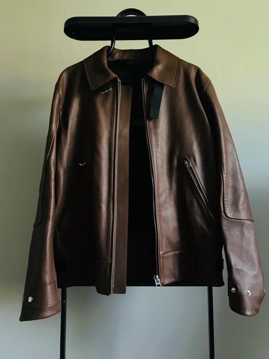 Acne Studios Acne Studios Aze Leather Jacket Brown