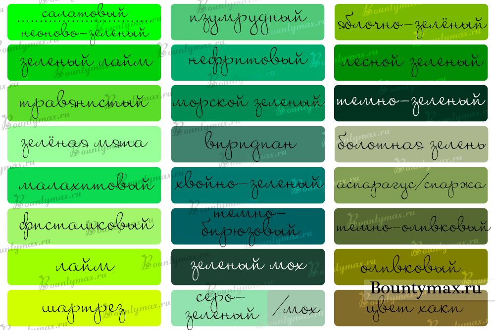 оттенки зеленого цвета в одежде - Поиск в Google | Оттенки ...