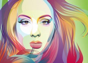 Adele on popart style by erna setiawan   metal posters - Displate   Displate……   Displate thumbnail