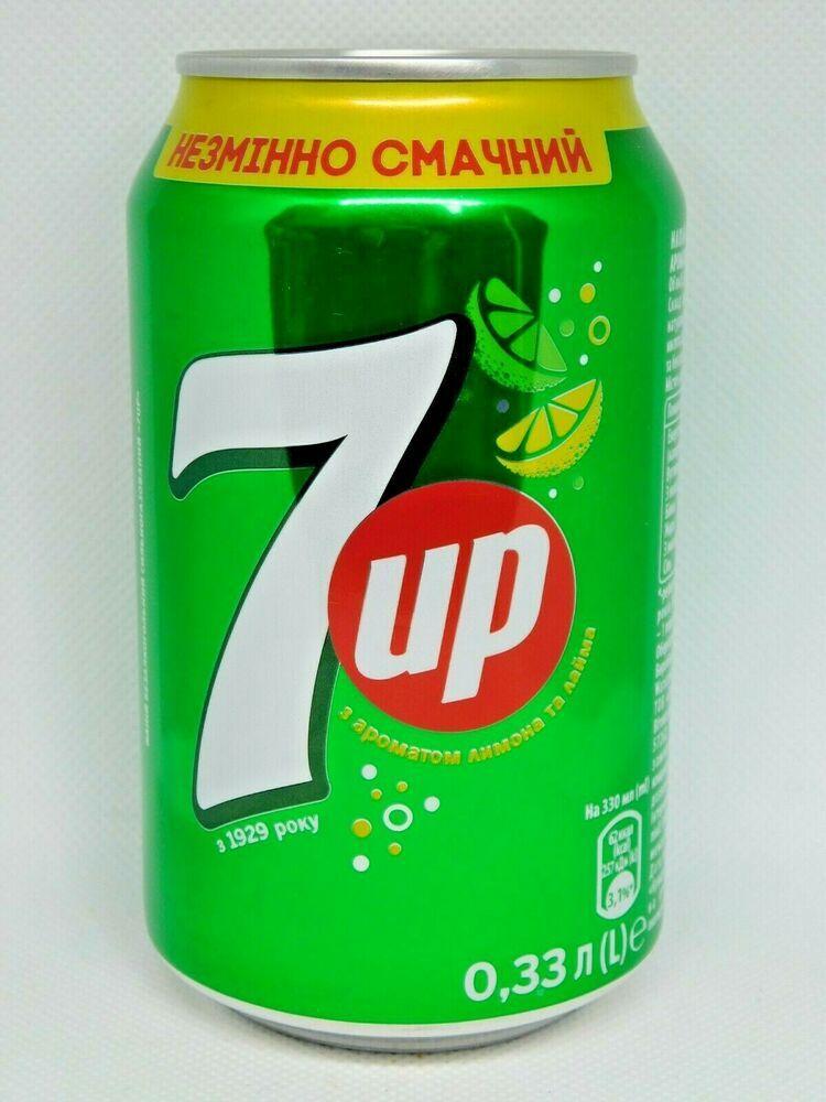 Christmas Tour Poland And Ukraine 2020 New Empty Can 7UP. Poland for Ukraine, 330ml. 2020 Bottom open