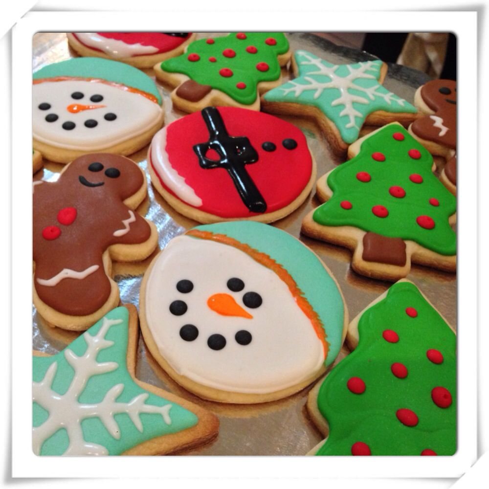 #christmascookies #cookies #snowman #snowflake #santa #christmastree #gingerman