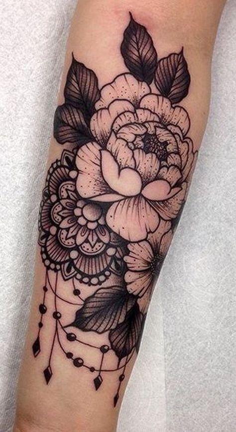 Blume mit Mandela-Tattoo - #Flower #Mandela #Tattoo - Pinrhouse - Tägliches Pin Blog