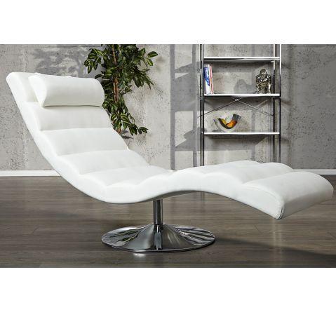 Fauteuil De Relaxation Targa Cuir Blanc Relaxliege Sofa Sessel Wohnzimmermobel
