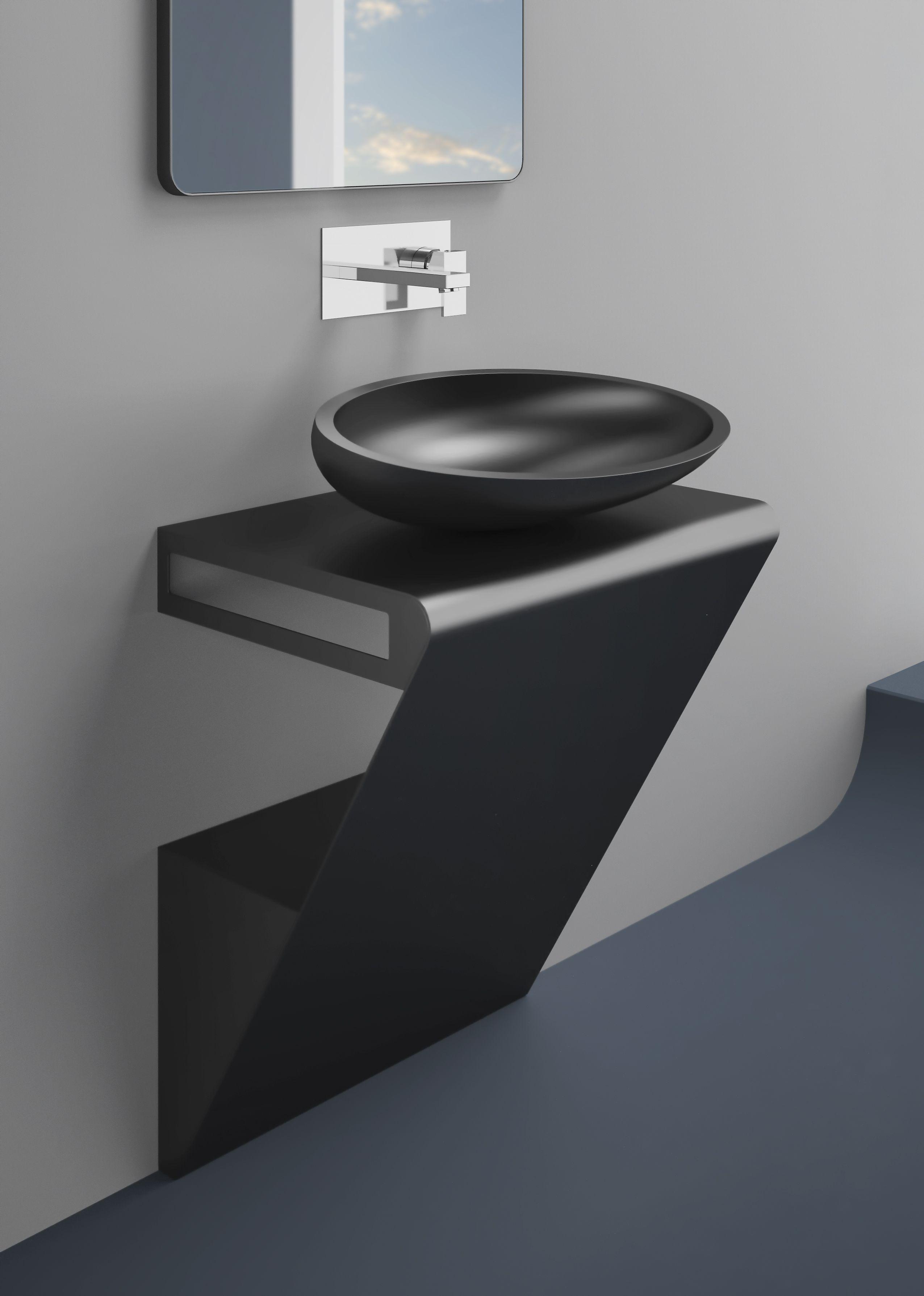 Meuble Salle De Bain En Inox Zero De Glass Design Meuble Lavabo Lavabo Design Decoration Toilettes