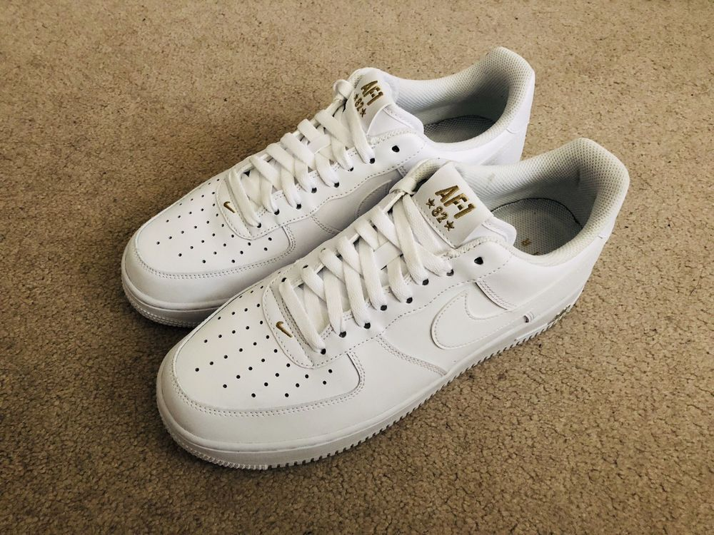 NIKE Air Force 1 '07 Crest Men's AA4083 102 White Gold