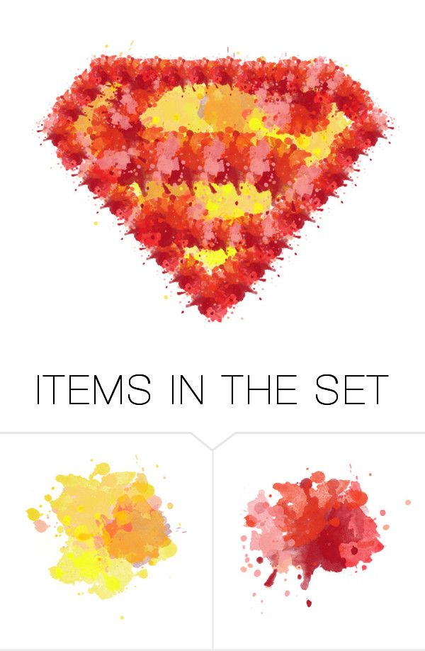 """""""&&☵☾// O38- SUPERMAN LOGO POLYPAINT"""" by marvelous-paints-xx ❤ liked on Polyvore featuring art and marvelouspolypaints"""